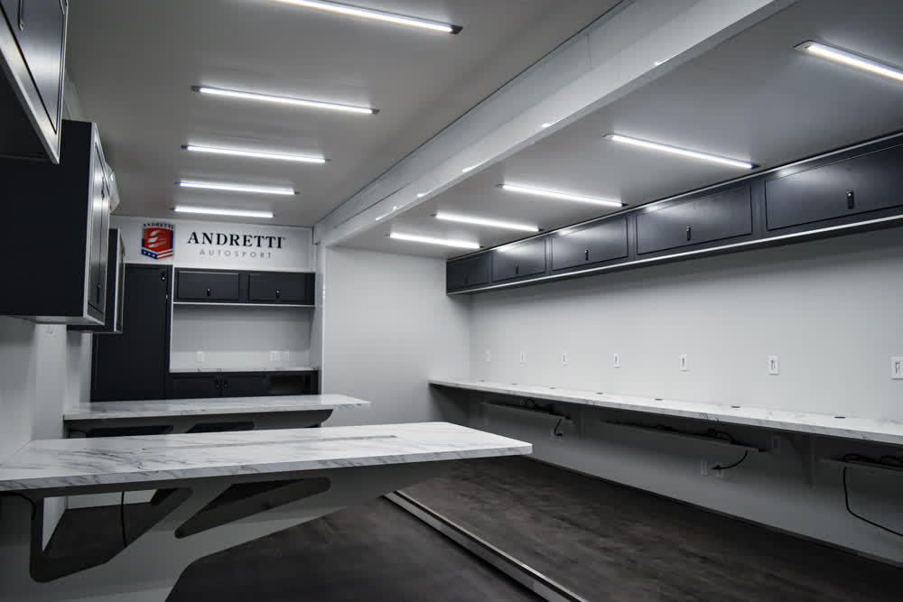 andretti motorsport enclosed trailers