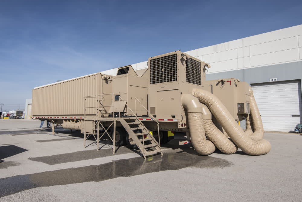 outside enclosed trailers