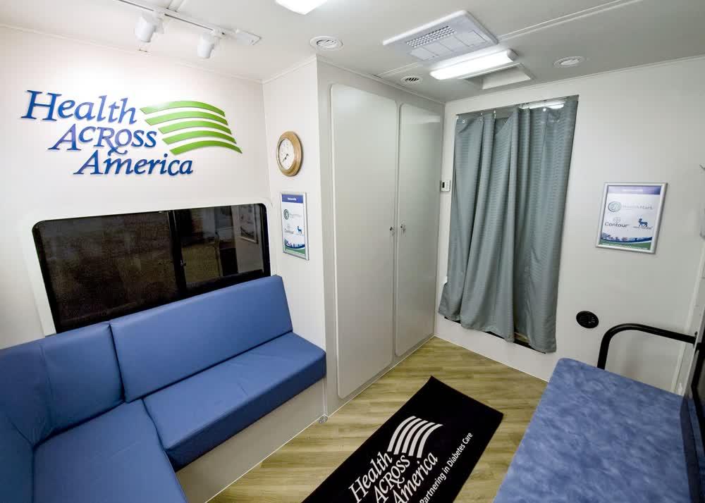 health across america mobile medical trailer