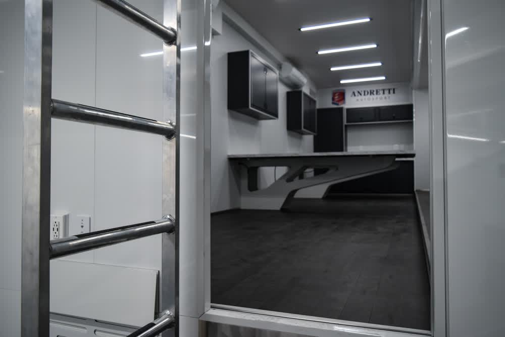 andretti motorsport door race car trailer
