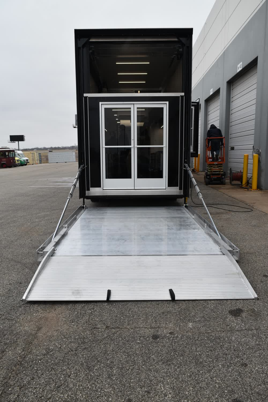 back of race car trailer
