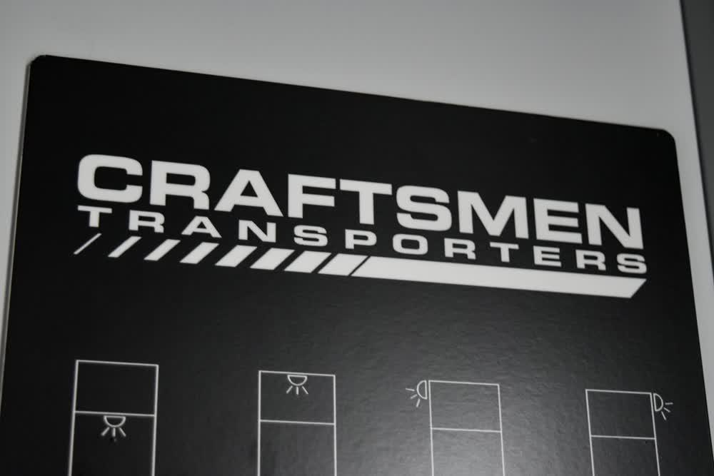 craftsmen transporters race car trailer