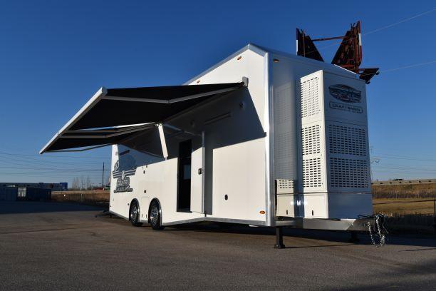 epic wallace race trailer front race car trailer