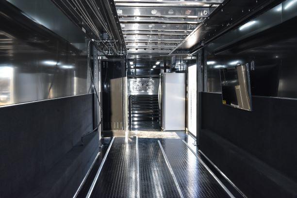 epic wallace race trailer interior view race car trailer