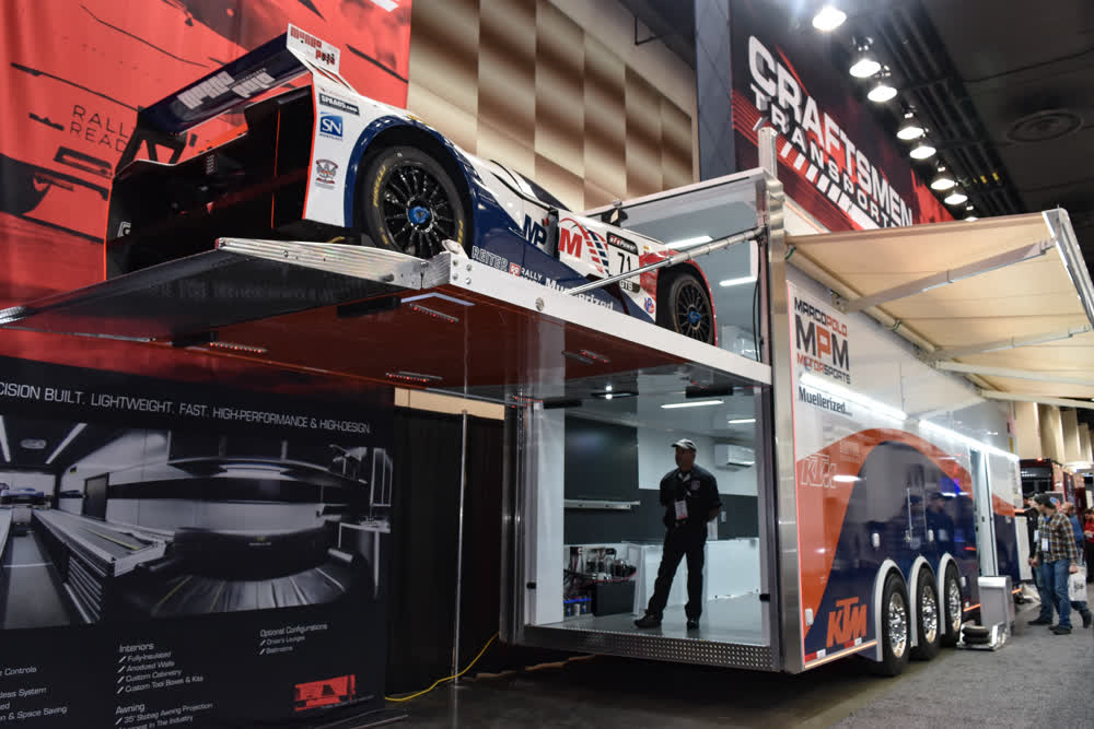 marco polo motorsports race car trailer