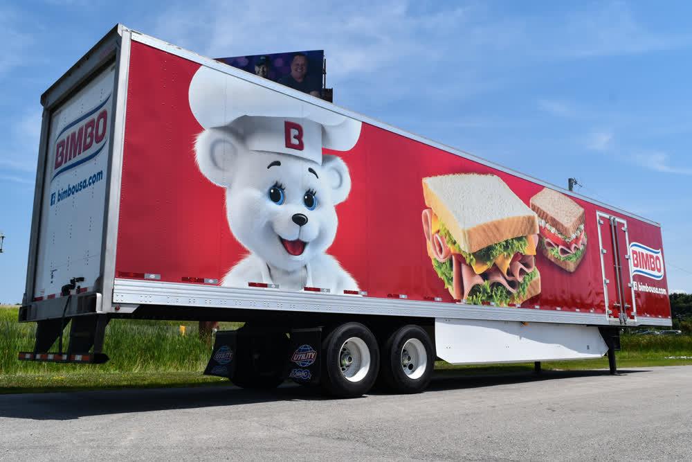 bimbo mobile billboard truck trailer