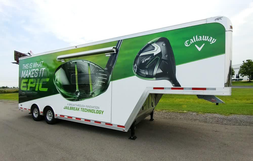 callaway mobile billboard truck trailer