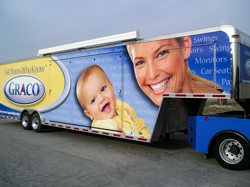 graco mobile billboard truck trailer