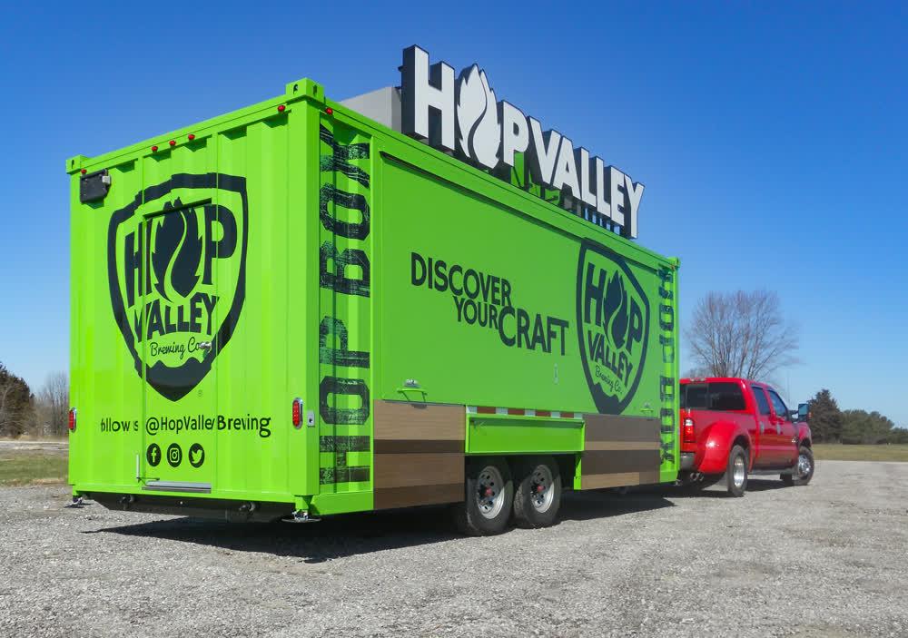 hop valley mobile billboard truck trailer