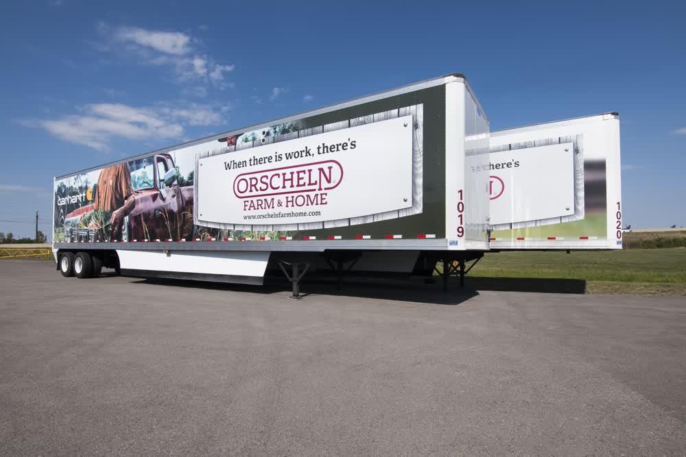 orscheln farm and home mobile billboard truck trailer