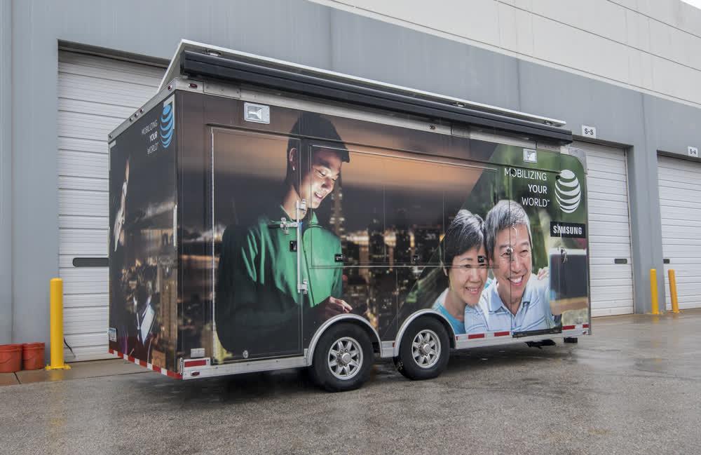 samsung mobile billboard truck trailer