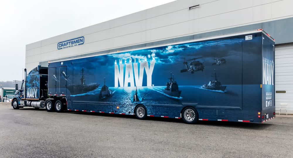 united states navy mobile billboard truck trailer