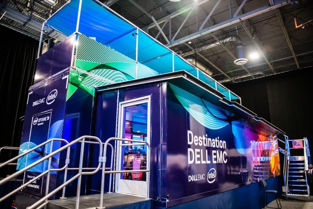 destination dell exterior mobile showroom trailer truck