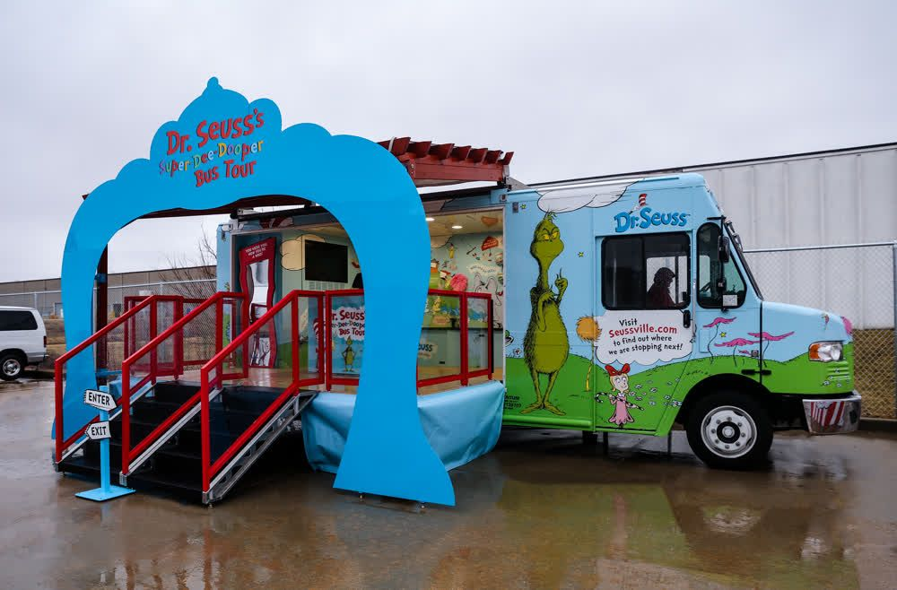 dr seuss mobile showroom trailer truck