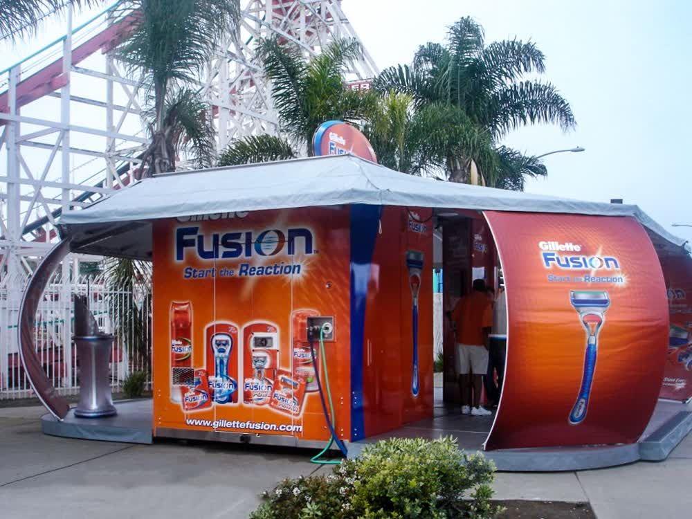 gillette fusion mobile showroom trailer truck