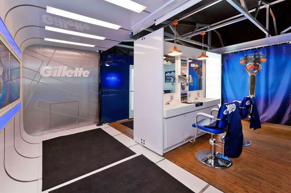 gillette mobile showroom trailer truck