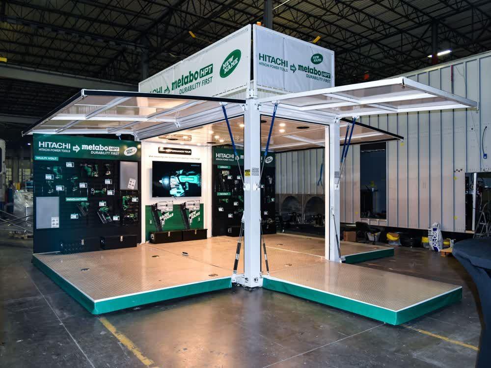 hitachi metabo mobile showroom trailer truck