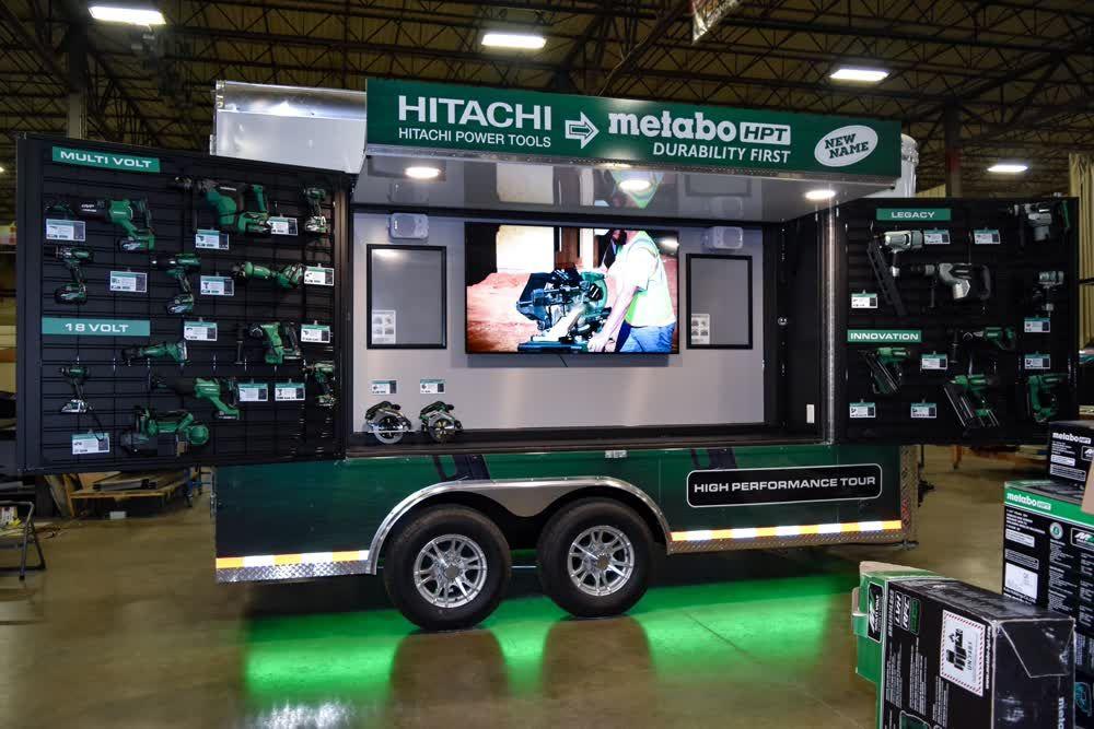 hitachi mobile showroom trailer truck
