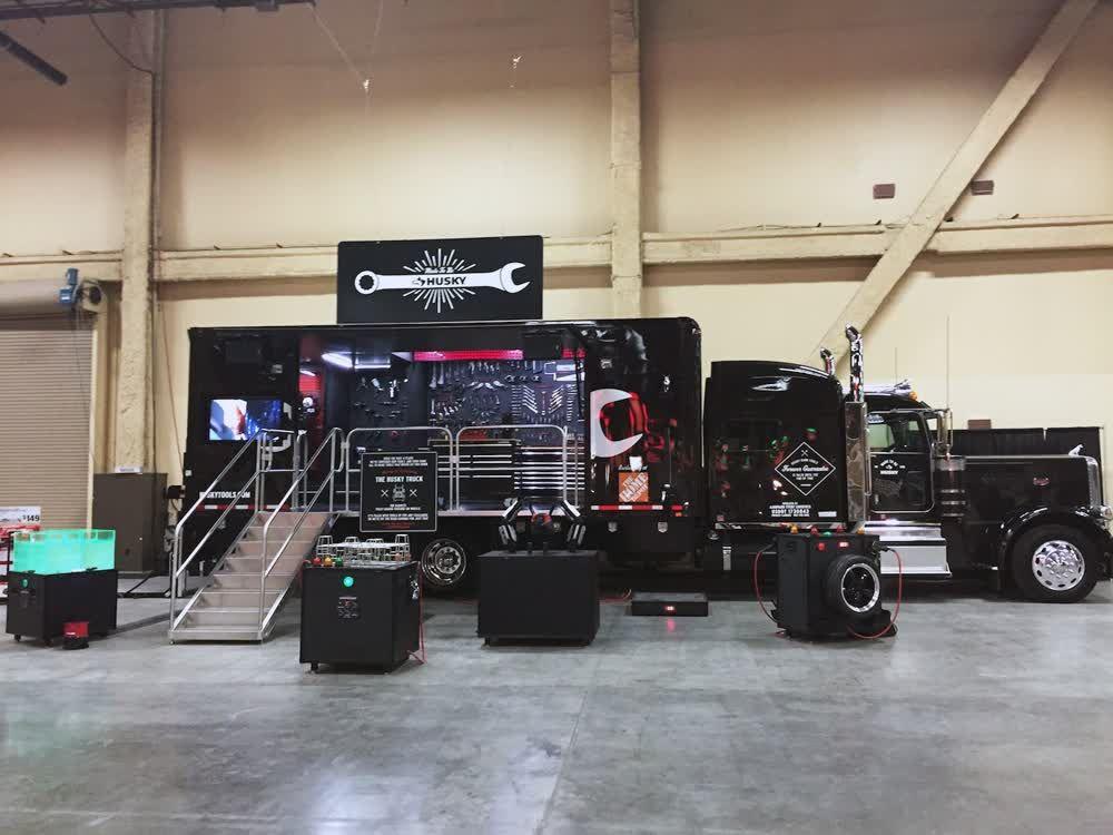 husky mobile showroom trailer truck