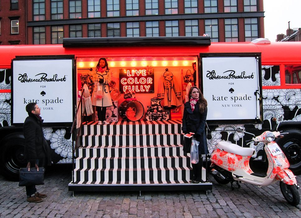 kate spade mobile showroom trailer truck