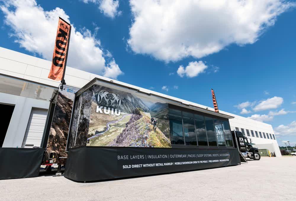 kuiu mobile showroom trailer truck