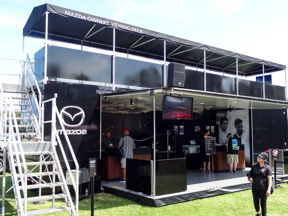 mazda mobile showroom trailer truck