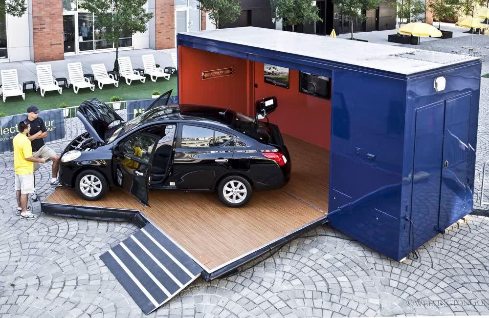 nissan leaf mobile showroom trailer truck