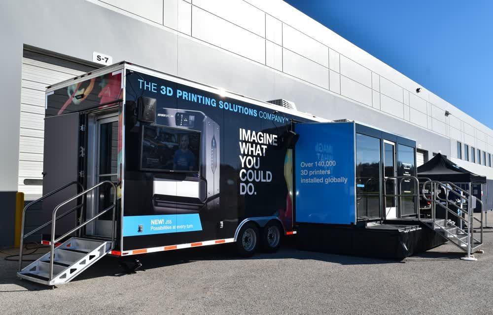 stratasys exterior mobile showroom trailer truck