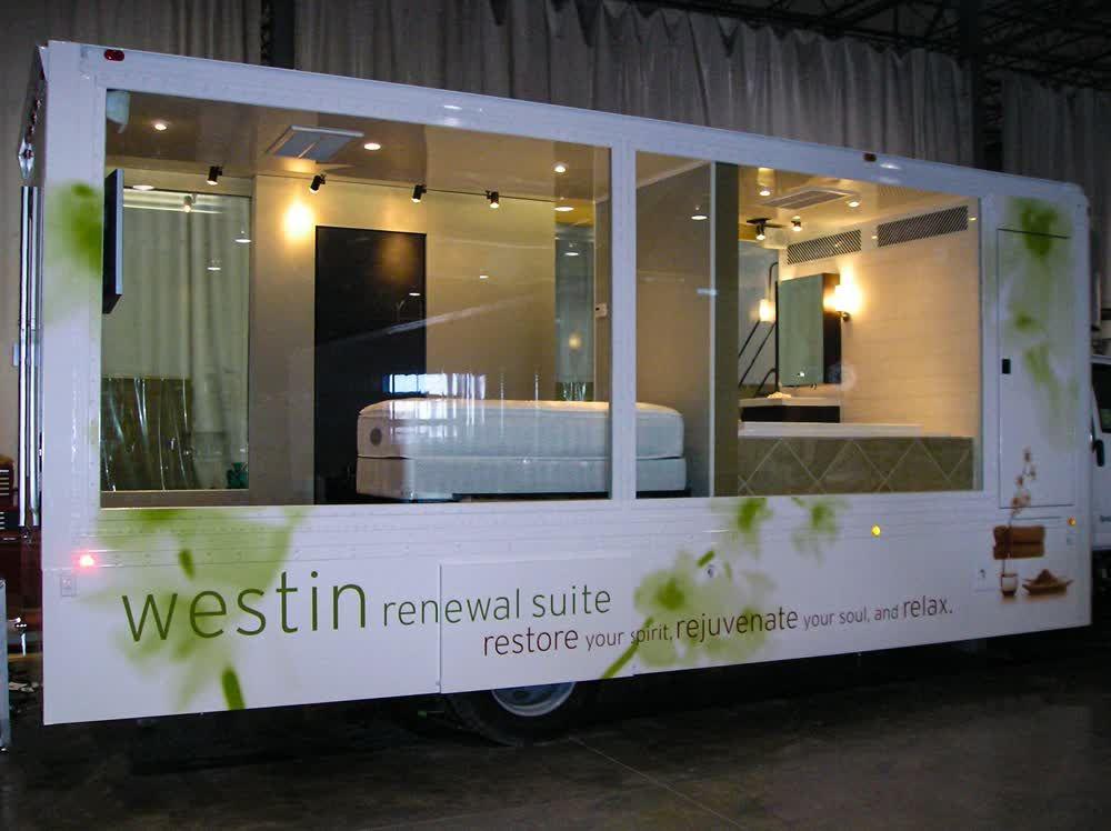 westin mobile showroom trailer truck