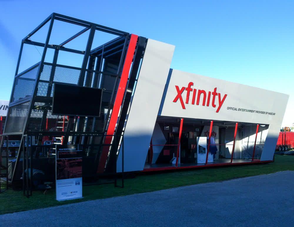xfinity mobile showroom trailer truck