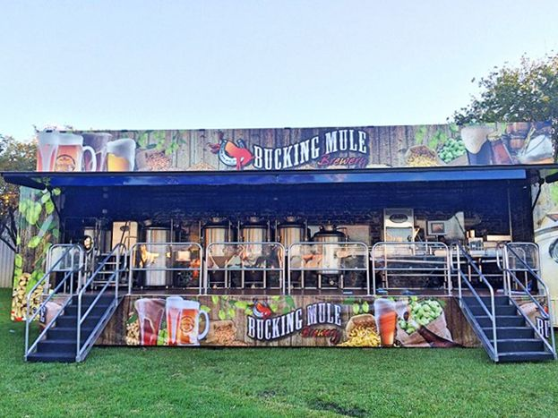 bucking mule mobile stage trailer