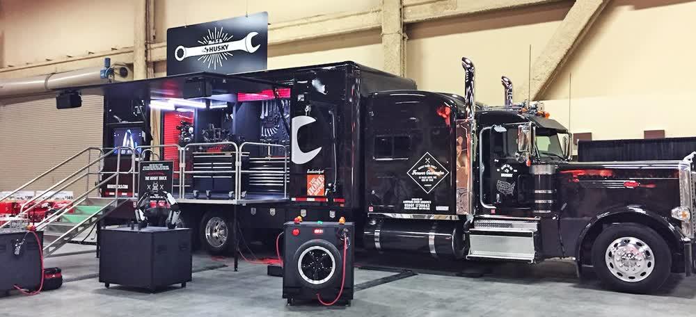 husky mobile stage trailer