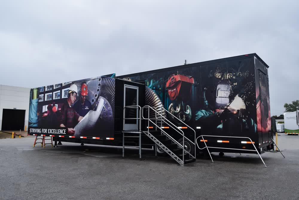 ameren training  double expandable trailer