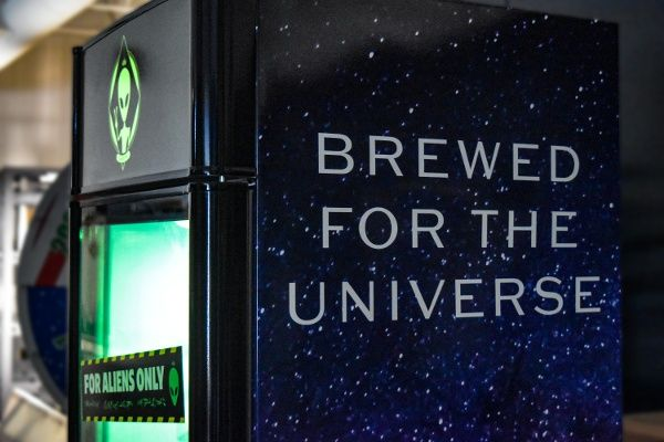 bud light brewed for the univerise experiential event elements