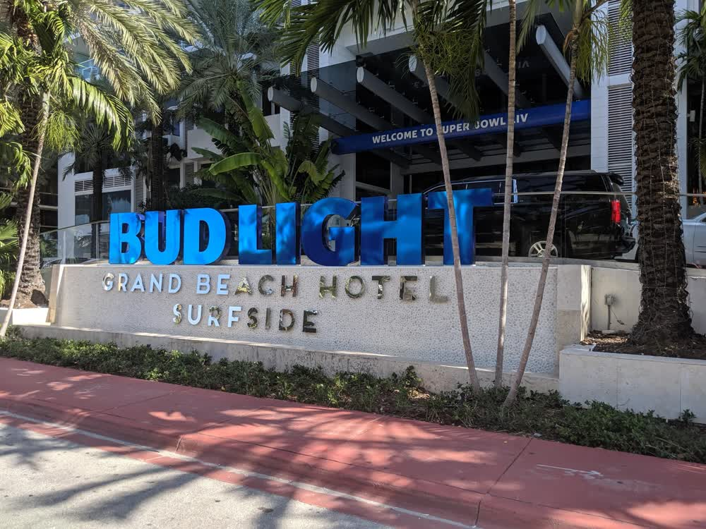bud light hotel experiential event elements