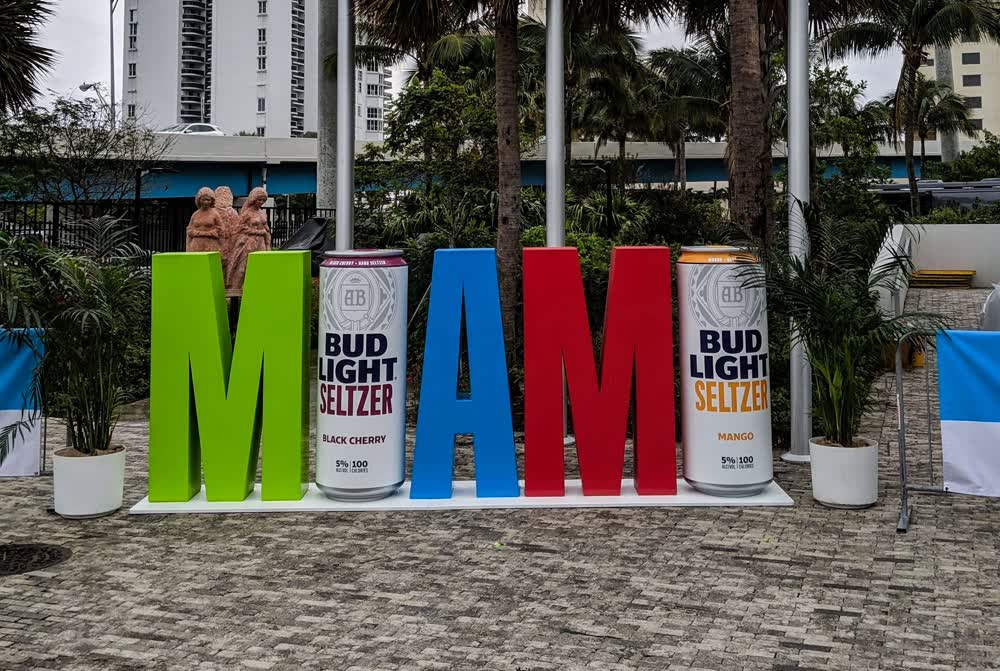 bud light seltzer cans experiential event elements