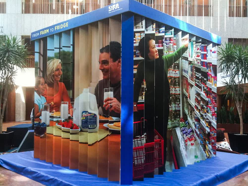 dairy farms of america from farm to fridge experiential event elements