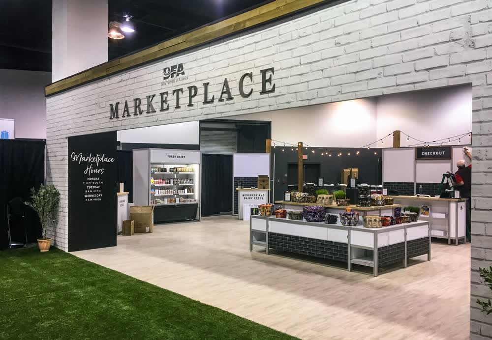 dairy farms of america marketplace experiential event elements