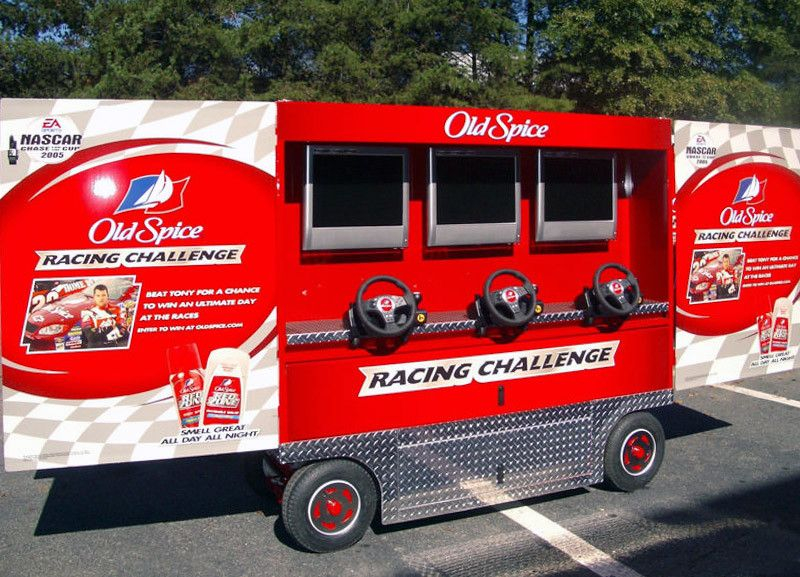 old spice racing challenge experiential event elements