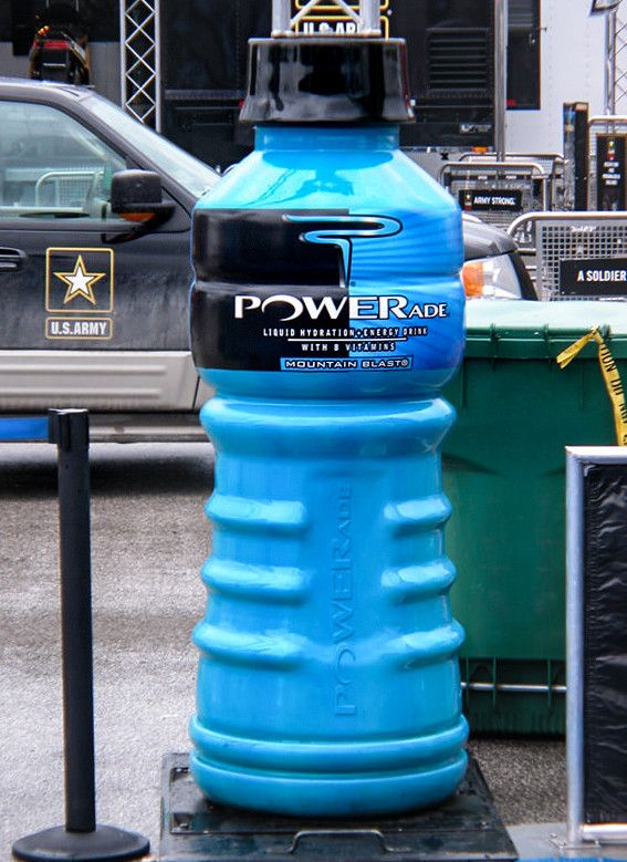 powerade experiential event elements