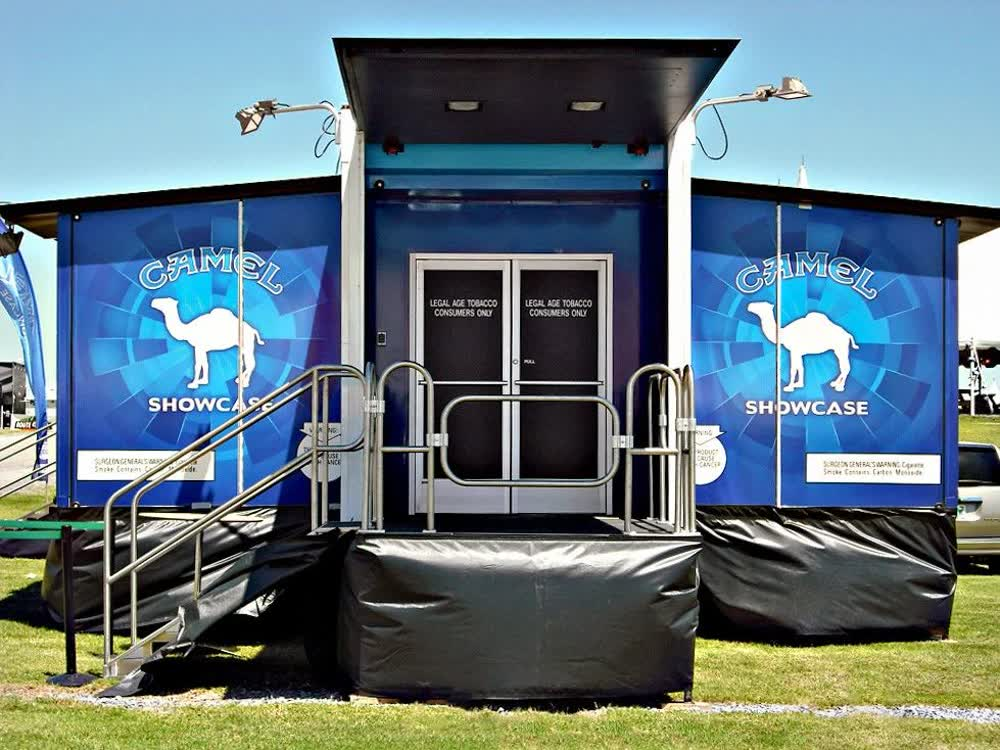 camel cigarettes showcase event promotional vehicles trailers