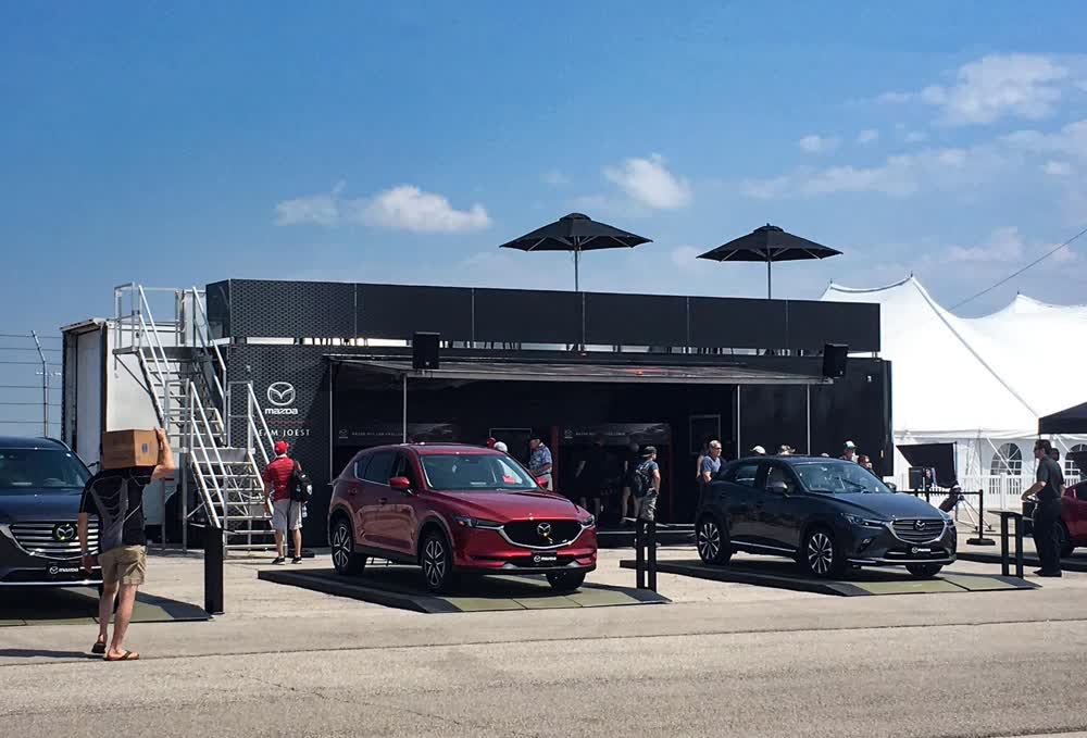 mazda event promotional vehicles trailers