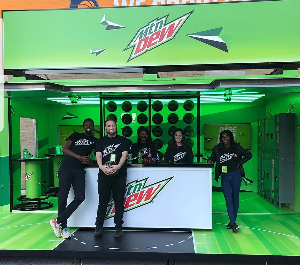mountain dew event promotional vehicles trailers