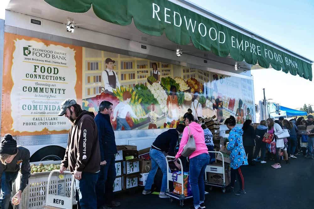 redwood empire food bank event promotional vehicles trailers