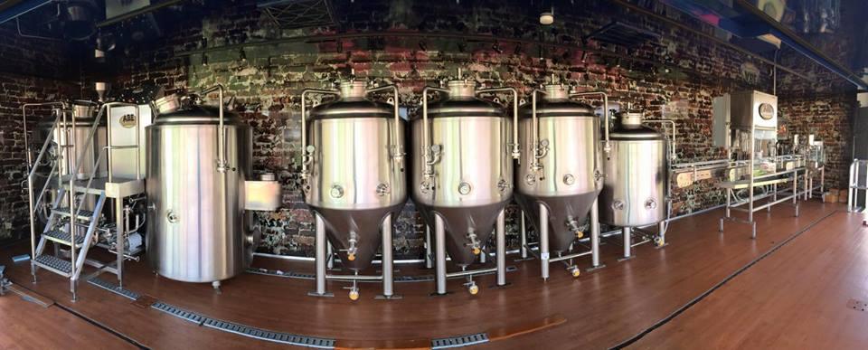 bucking mule brewery interior sampling kitchen