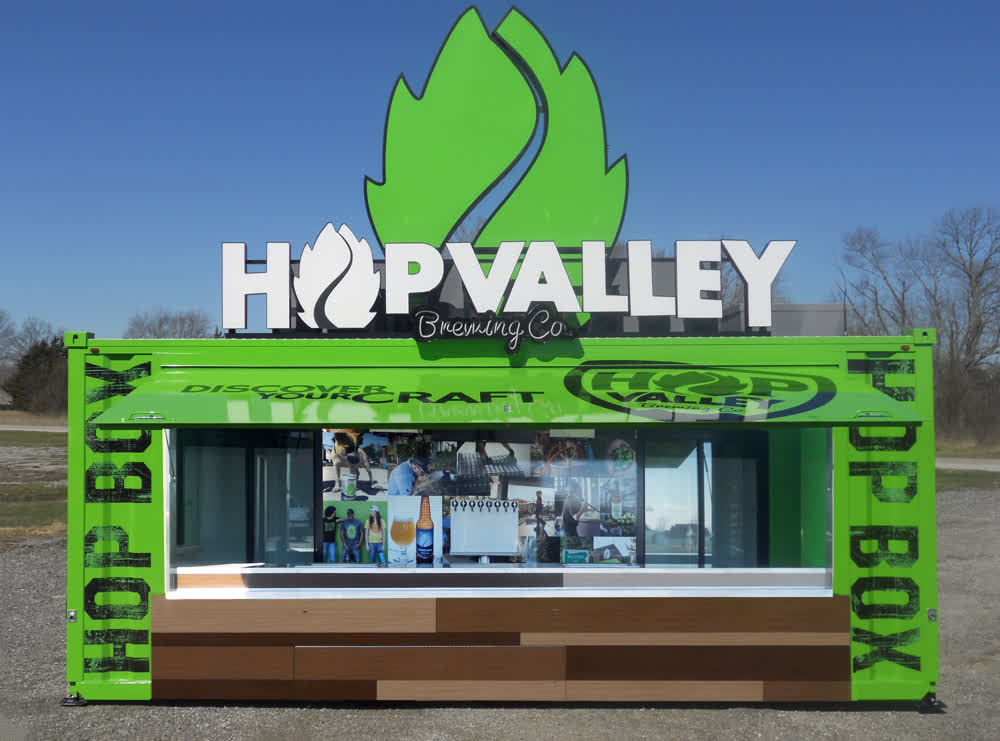 hop valley brewing company sampling kitchen