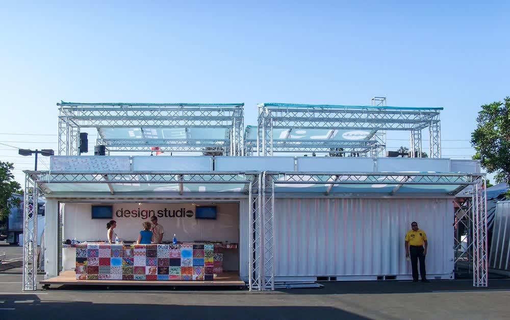 dell computers design studio shipping container conversion