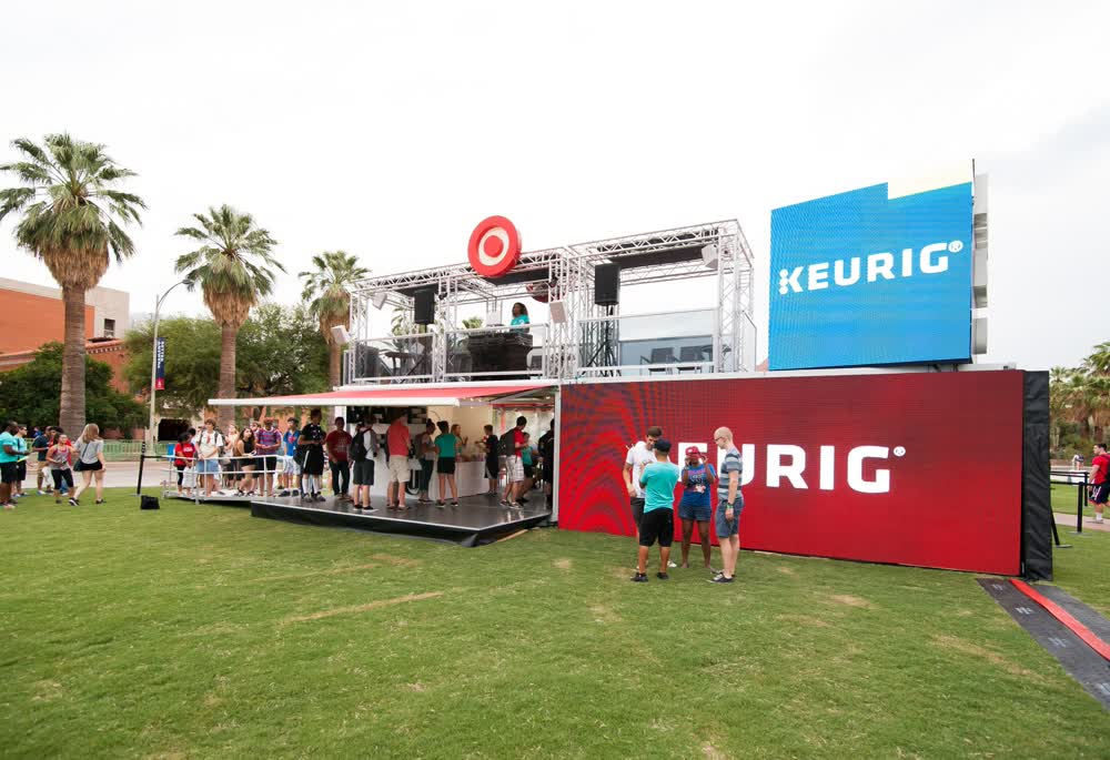 target keurig shipping container conversion