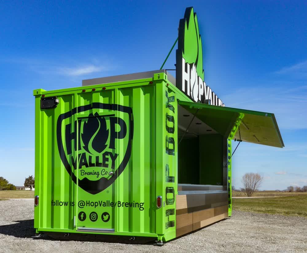 hop valley brewing company concession trailer