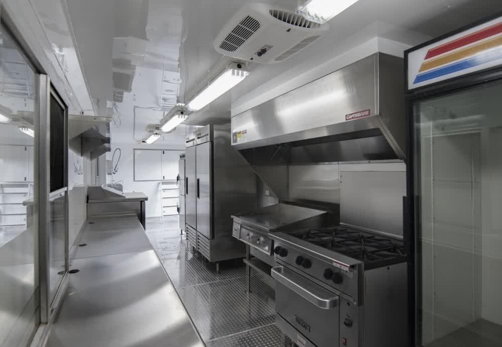interior concession trailer